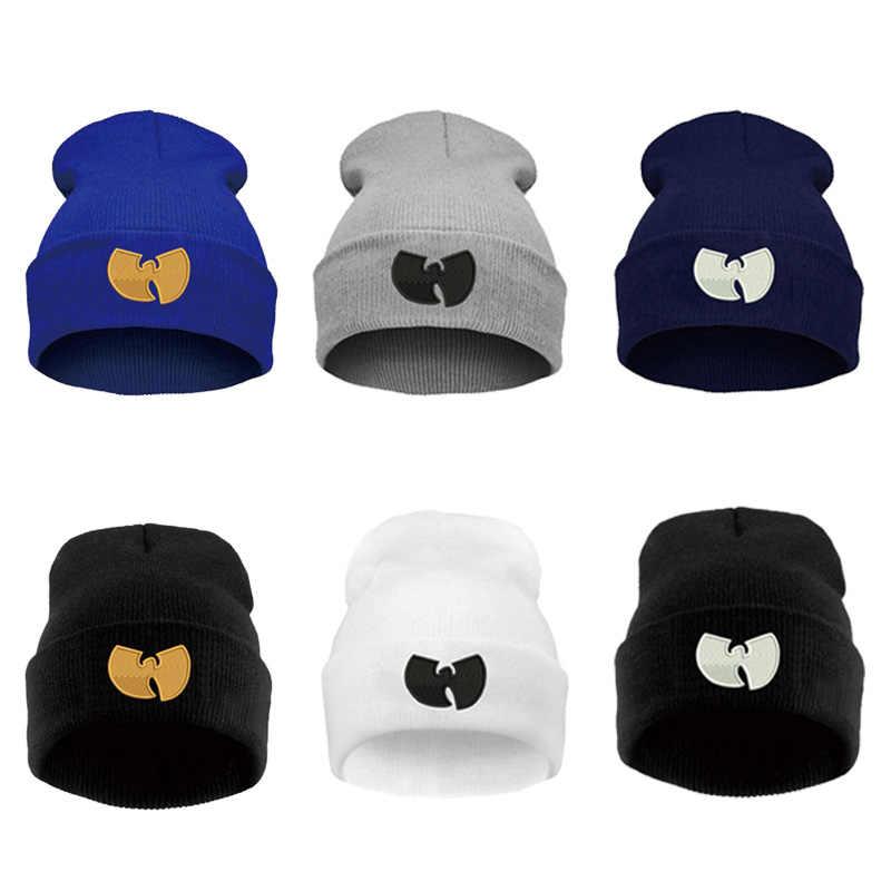 229019ea9d478 ... Women Cap With WU TANG CLAN Warm Winter Hats for Women Men Beanie  Knitting Wool Hip ...