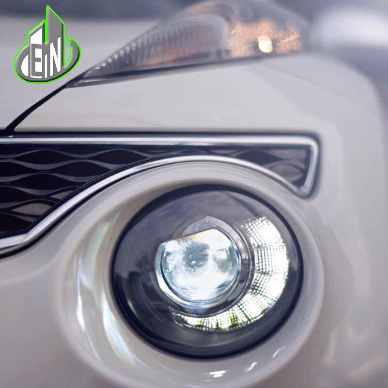 Автомобиль Стайлинг Для Nissan Juke фары 2013 2014 2015-2018 LED эсквайр фар голову светодиодные лампы ДРЛ проектор фары h7 HID