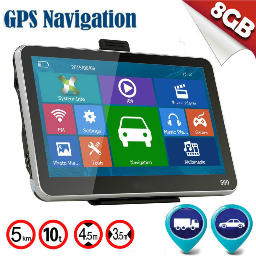 5 Inch Universal Trucks Cars Auto Vehicles Car Trucs Gps Sat Nav Navigation GPS System Support Voice Navigation купить в Москве 2019