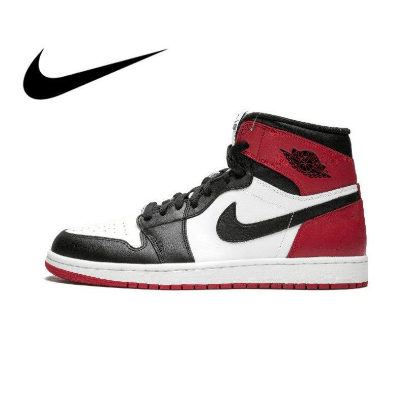 Nike air jordan 1 og originais autênticos tênis de basquete masculino retro royal aj1 respirável esportes ao ar livre designer