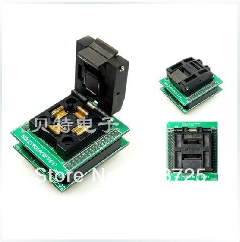 TQFP64 ucos dedicated programming block ZY501A burning test adapter, adapter ic qfp32 programming block sa636 block burning test socket adapter convert