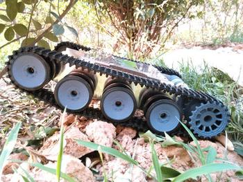 Metal Plate Robot Smart Tank Chassis Intelligent Tracked Car Caterpillar Crawler Off-Road Vehicle DIY RC Toy Remote Control