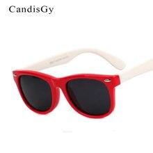 Гибкие очки Детские поляризованные очки для безопасности ребенка, солнечные очки с покрытием, UV400 очки Оттенки Детские oculos de sol masculino