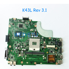 K43L For Asus Laptop Motherboard X44H X84H K84L REV 3.1 DDR3 HM65 HDMI Interface Fully Tested Work Well and 100% tested