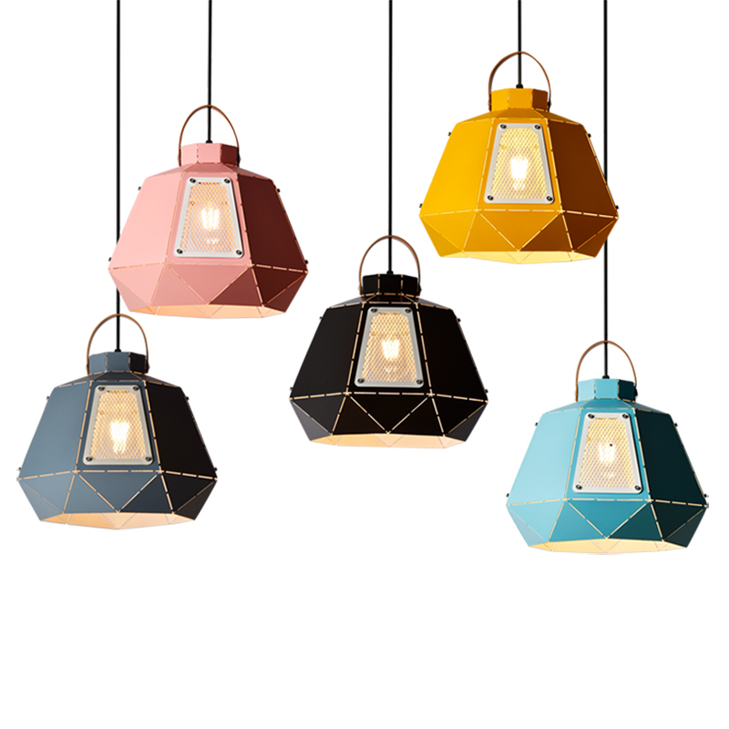 все цены на Modern simple macaron pendant light creative modern single head with Translucent hole restaurant foyer office bedside droplight