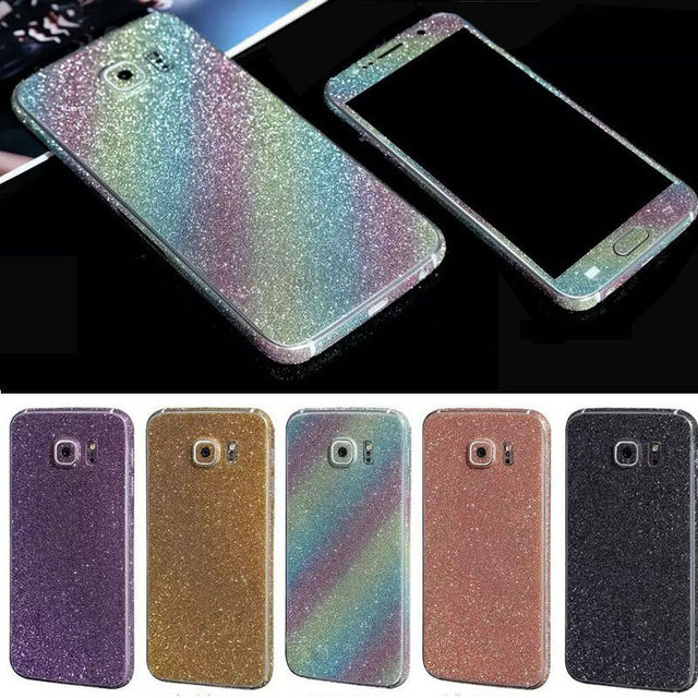 super popular f7f96 68193 US $1.99 |Bling Sticker Case For Samsung Galaxy S7 S 7 Full Body Decal Skin  Bling Glitter Sticker Phone Cover For Galaxy S7 Edge Coque-in Fitted Cases  ...