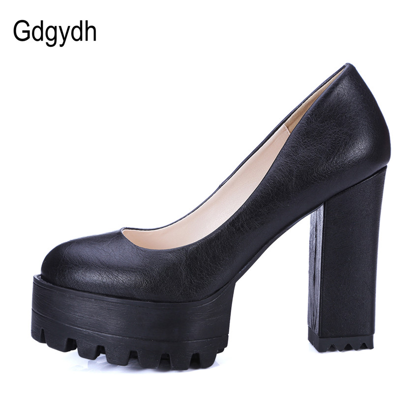 a1ee5b88000 Gdgydh 2018 New Spring Autumn Casual Shoes Women Thick Heels Platform Pumps  Russian Shoes for Women High Heels Work Big Size 42-in Women s Pumps from  Shoes ...