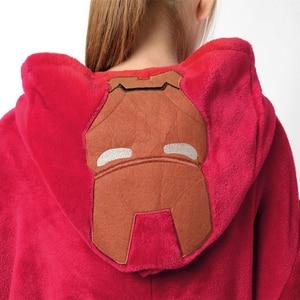 Image 4 - Flannel Kigurumi Adults Pajamas Women Men Pyjama Super hero Iron Superman Spiderman Batman Cosplay Onesies Anime Sleepwear
