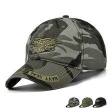 Hombres Gorras Gorras Militares Al Aire Libre Pesca Caza Sombrero Militar Camo Gorras de Béisbol Ajustable