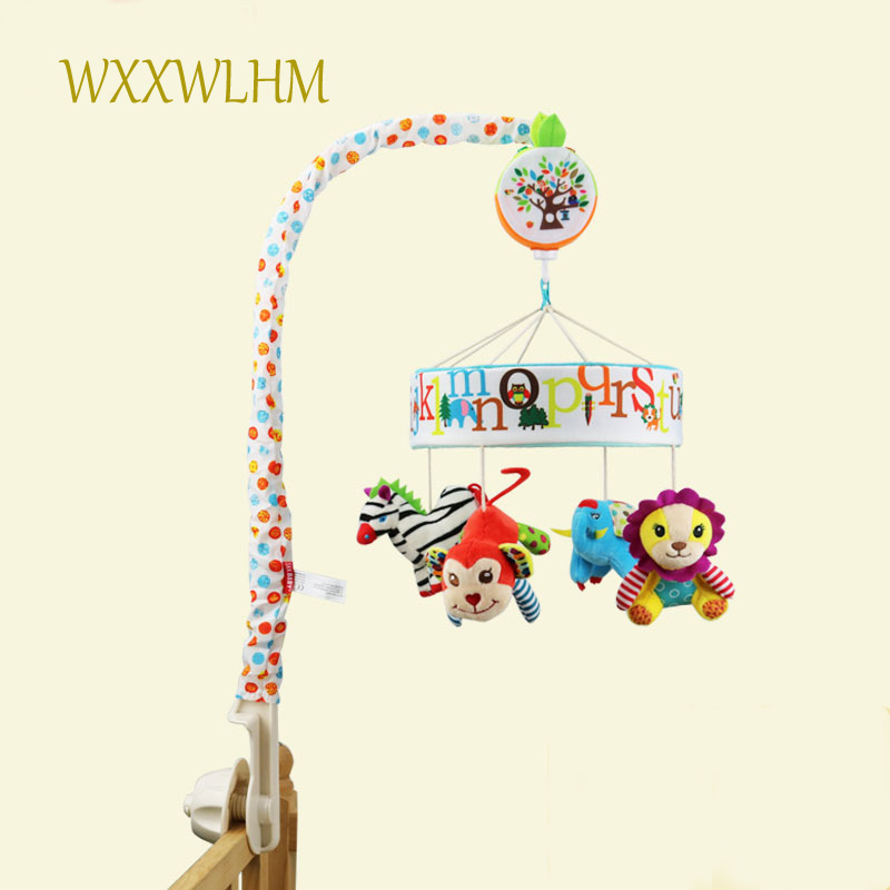 Simple enroulement jouet nouveau lit de musique rotatif suspendu lit cloche nouveau-né bébé confort jouet décoratif lit cloche