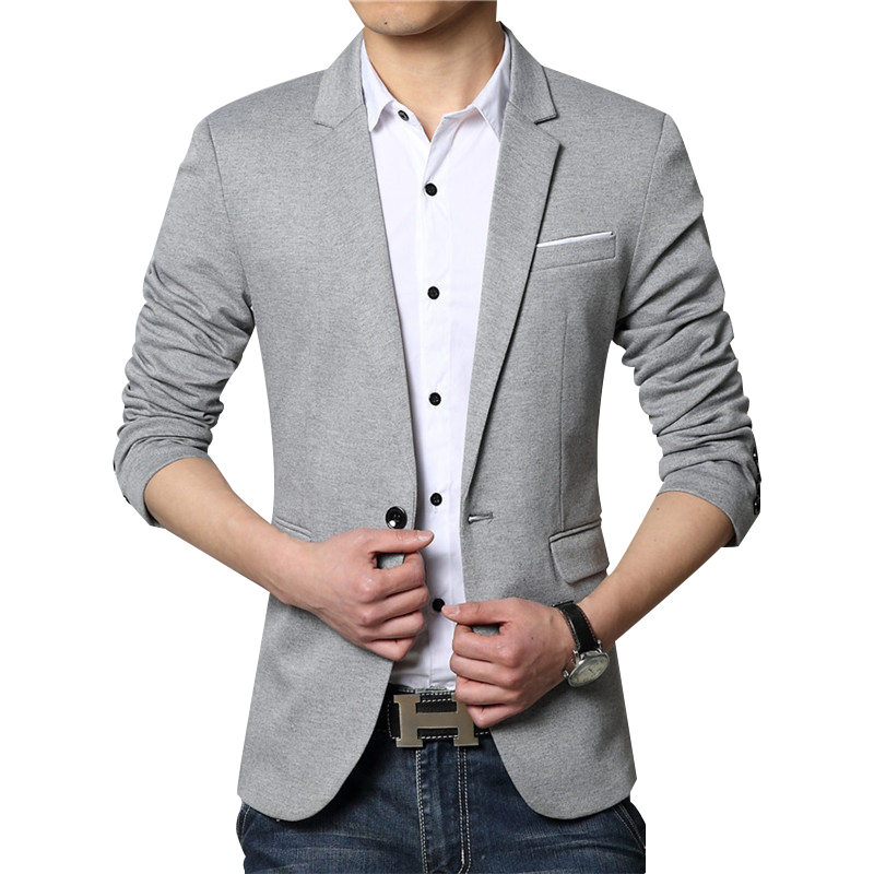 New Men Blazer Fashion Luxury Woolen Blends Patchwork Slim
