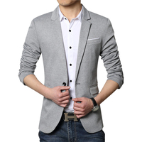 New Men Blazer Fashion Luxury Woolen Blends Patchwork Slim Suit Jackets Business Suit Male Wedding Dress Men M 6XL