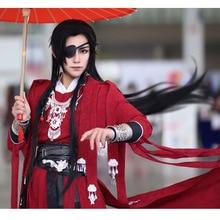 Xie lian Peluca de Cosplay Tian guan ci fu, larga, negra