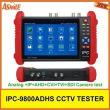 7-дюймовый IPC9800ADHS ips сенсорный экран CVBS IPC/аналоговые камеры видеонаблюдения Тестер монитор