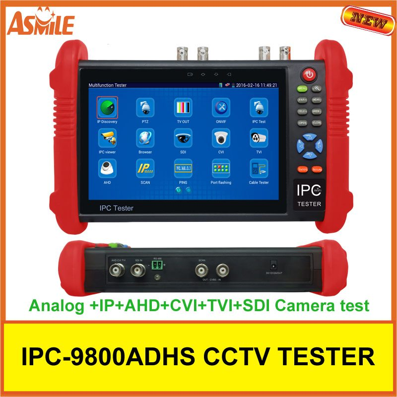 7inch IPC9800ADHS IPS touch screen CVBS IPC /analog cctv camera tester monitor 2017 new hot sale 7inch cctv tester for ipc 9800 movtadhs plus