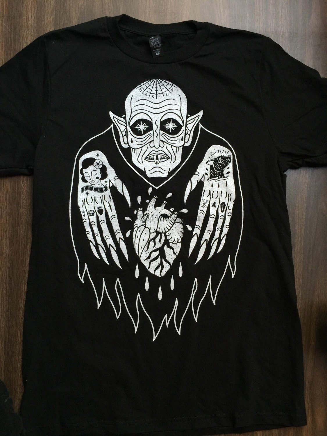 nosferatu vampire horror tee halloween horror movie tattoo
