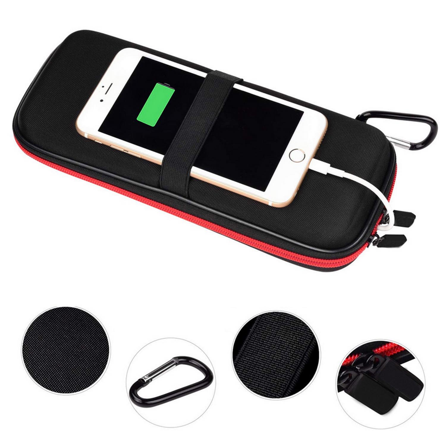 Besegad Portable Travel Hard EVA Shockproof Carrying Bag <font><b>Case</b></font> Pouch Storage Box for External <font><b>Battery</b></font> Pack Power Bank image