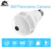 960P Wireless 360 Panoramic IP 3D VR Camera WIFI LED Bulb Light FishEye Surveillance CCTV Camera Home Security Mini Cam Wi-Fi(China)