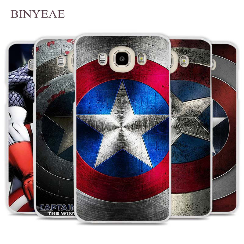 BINYEAE Captain America Shield Cell Phone Case Cover for Samsung Galaxy J1 J2 J3 J5 J7 C5 C7 C9 E5 E7 2016 2017 Prime