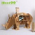 Artesanato em madeira móveis Continental Europeia rinoceronte presentes criativos acessórios para casa ornamentos de madeira casa decoração criativa