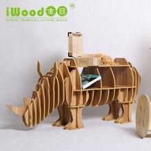Continental European furniture wood crafts rhinoceros rhino creative gifts home accessories wooden ornaments creative home decor