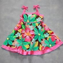 Летние платья для девочек вечернее платье из 100% хлопка летнее