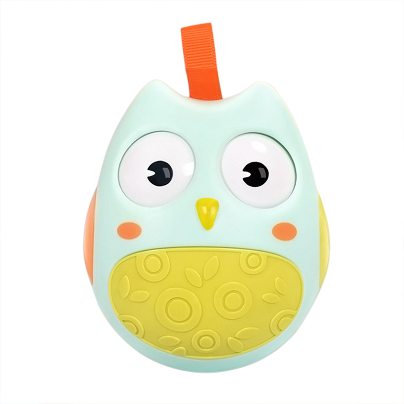 Hot Selling Cute Baby Toys Cute Owl Tumbler Having Two Colors Suitable For Kids To Play Kids Can Get Fun With Cartoon Print