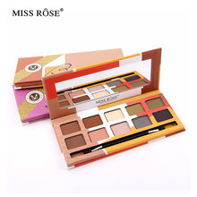 Miss Rose Nude 10 Colors Eyeshadow Maquiagem Palette Makeup Set Cosmetics Beauty Earth Color Eyeshadow Palette New Brand