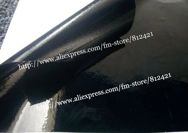 1.52*30m PVC black Glossy Vinyl Vehicle Wrap Change Color Film Car Sticker Air Drain 12 Colors Air Free Bubbles