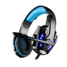 KOTION EACH G9000 Headband Gamer Headphones 3.5 Quadrupole LED Light Flash Gaming Headset wiht Mic For PS4 PC Video Game