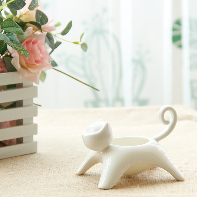 Valentine's Day gift ideas home candlestick ceramic pots Japanese Zakka ceramic products a generation of fat