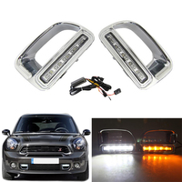 LED Daytime Running Light Waterproof ABS 12V DRL Fog Lamp Decoration For BMW Mini Cooper Countryman Car Accessories