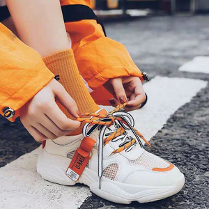 Image 5 - 2020 קיץ Pantshoes נוח לנשימה רשת מאמני שמנמן עקבים נשים פלטפורמת סניקרס נעלי אישה מזדמן נקבה נעלי W208