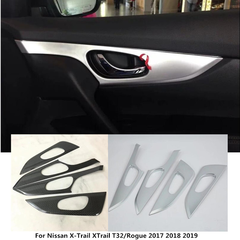 For Nissan X-Trail XTrail T32/Rogue 2017 2018 2019 Car inner door Window glass panel Armrest Lift Switch Button trim frame 4pcs abs chrome door body side molding trim cover for nissan x trail x trial xtrail t32 2014 2015 2016 2017 car styling accessories