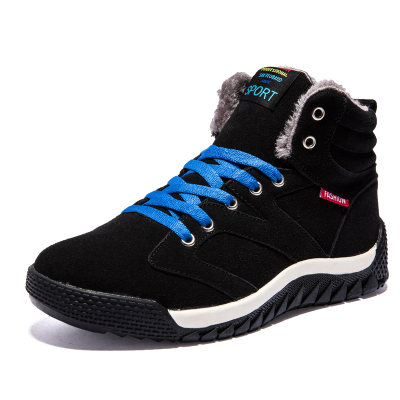 Arrival Fashion Men Winter Shoes Keep Warm Plush Ankle Boot Snow Work Shoes Outdoor Men Casual Boots Man Zapatillas Size 39-44 arrival fashion men winter shoes keep warm plush ankle boot snow work shoes outdoor men casual boots man zapatillas size 39 44
