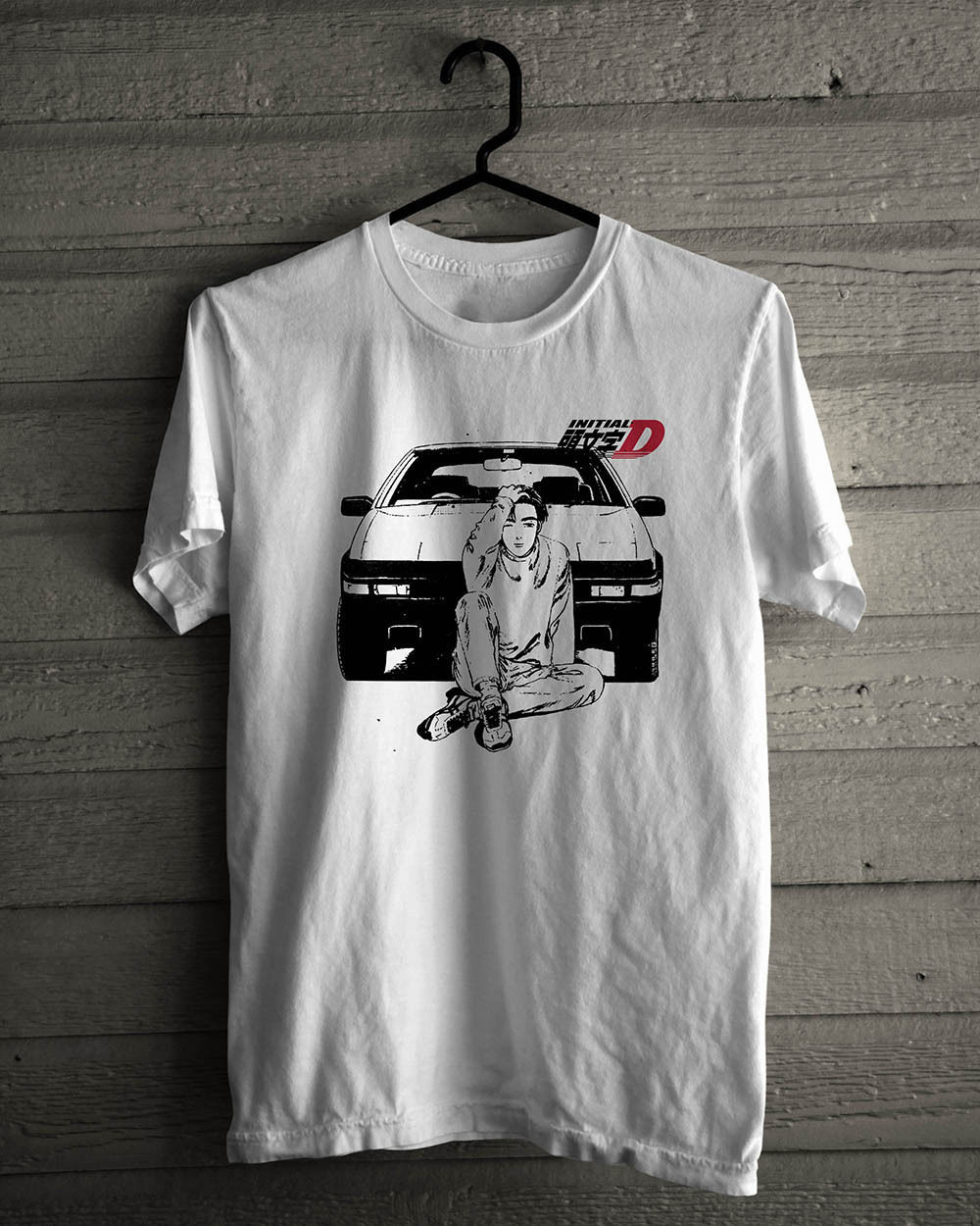 2019 Summer New Cool Tee Shirt Initial D Drift Racings
