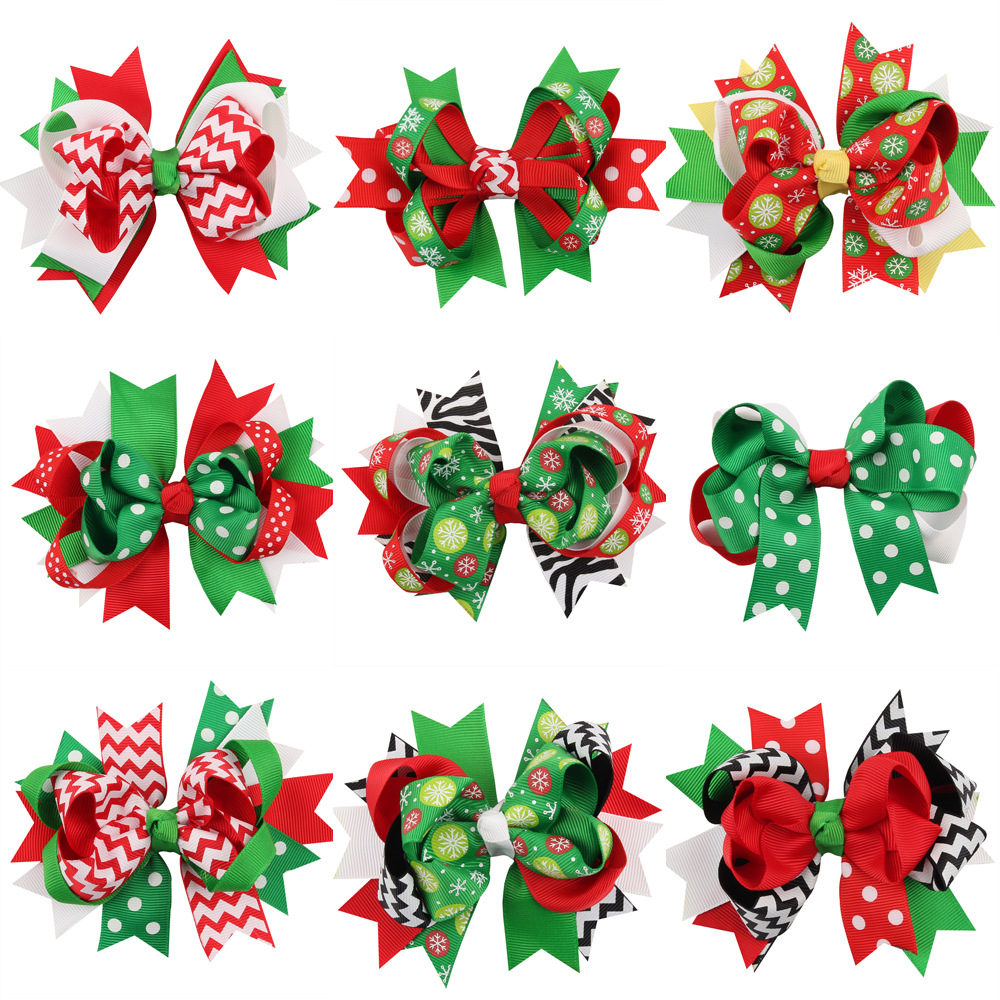 Dog christmas ornaments - Pet Butterfly Knot Christmas Dog Hairpin Children Christmas Ornaments Headdress Dog Hairpin Gifts 20pcs