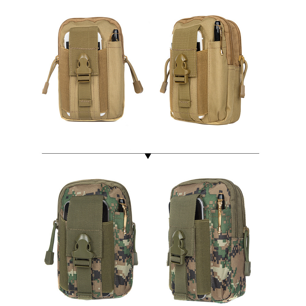 6 Colors 550D Oxford Tactical Waist Bags Outdoor Camping Wild Camouflage Waterproof Phone Pouch Pack Tactical Belt Bags
