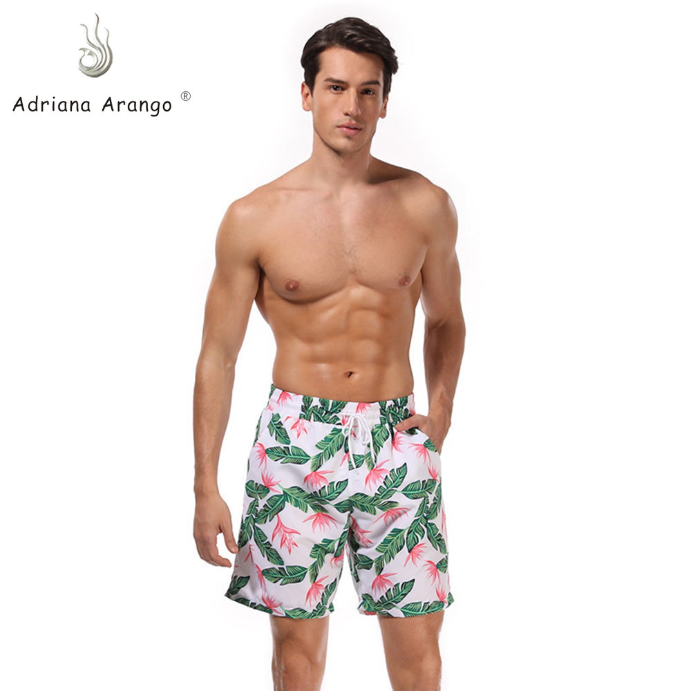 Adriana Arango  2019 New Summer  Board Shorts Beach Brand Shorts Surfing  Print Men Board shorts team wear