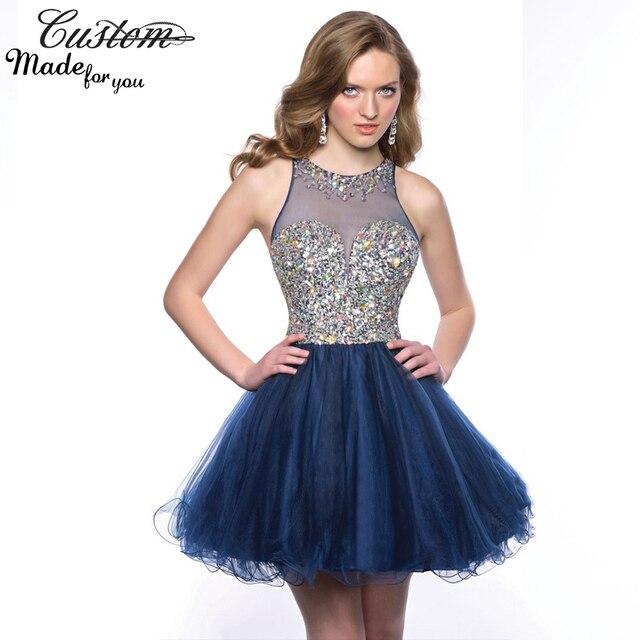 a9ce580db Vestido de bola de mascarada vestido de fiesta con cristales Corset Sparkly  para octavo grado adolescentes
