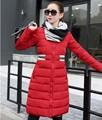 Дешевые оптовая 2017 осень зима хлопок вниз ватные теплая Куртка женщина с длинными дизайн одежды тонкий плюс размер Sexy Lady работа пальто