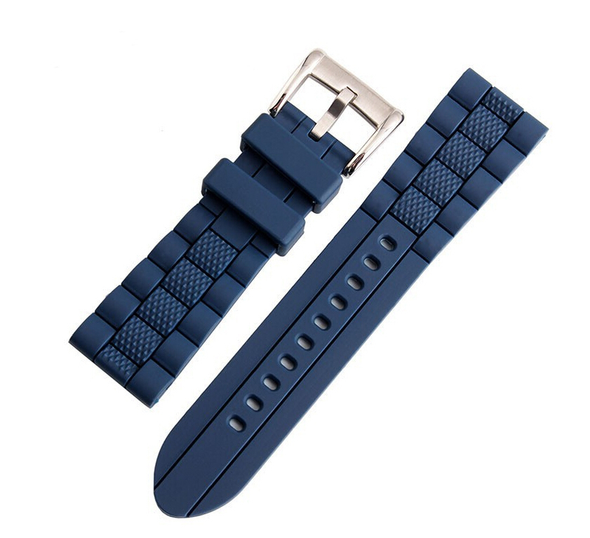 20mm 22mm 23mm High Quality Rubber Watchband Strap Black&Blue Men Women WATCHBAND For AR Watch  Free Shipping