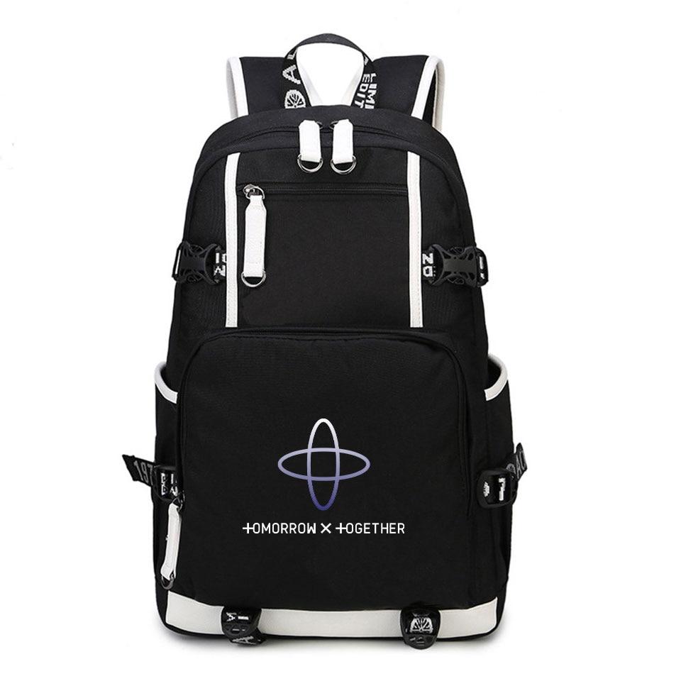 TXT Backpack Loose Strap Adjustable 2019 New Harajuku Mochila Kpop Printed Multifunction Backpack