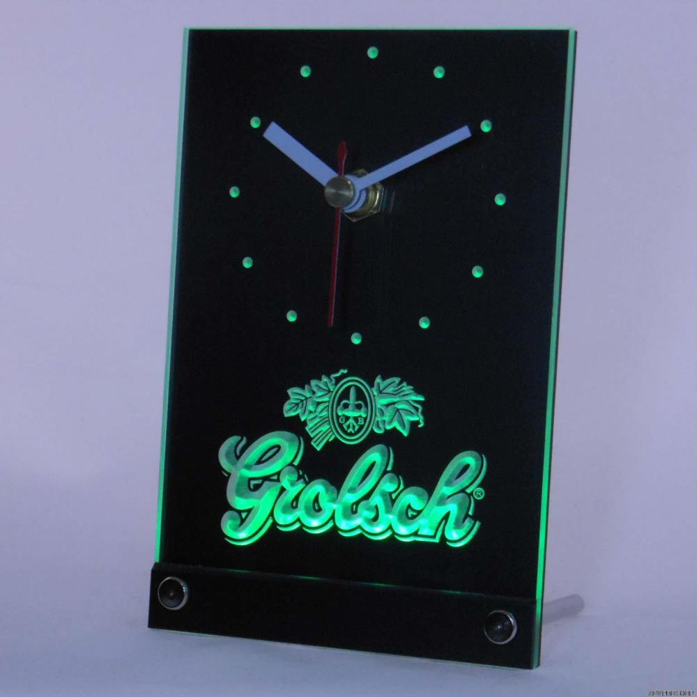 Tnc0002 Grolsch Beer 3D LED Table Desk Clock