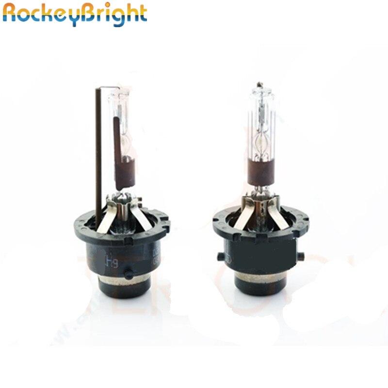 Rockeybright 1pair Car xenon light bulb D2R metal 35W 4300K 6000K 800K White D2R HID Xenon
