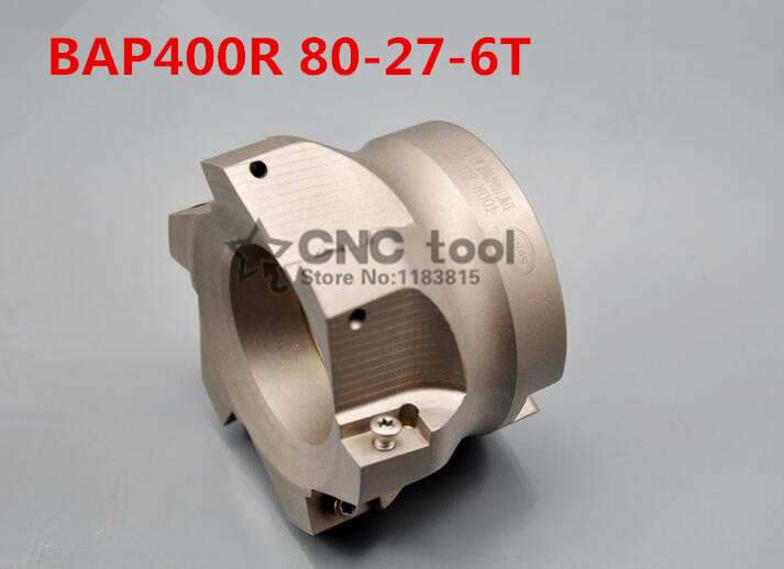 Free Shipping BAP400R 80 27 6T Face Mill Shoulder Cutter For Milling Machine BAP400R Milling Cutter