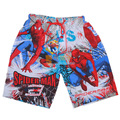 boys red Spider-Man cartoon Beach pants shorts for kids clothes boys children Baggy cool shorts boy for 5-9years boy