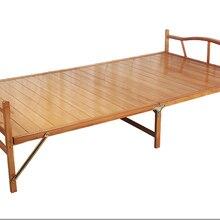 0,8x1,9 см современная складная кровать, бамбуковая мебель для дома, односпальная складная кровать для дома, спальни, мебель на платформе, раскладная кровать