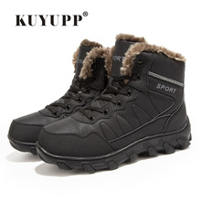 New Snow Boots For Men Casual Warm Plush Timber Boots Lace Up Waterproof Quality Leather Winter Boots Black Brown Men Shoes 2DX7