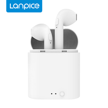 Lanpice i7s mini Tws Bluetooth 5.0 Earbuds Wireless Headset Stereo In-ear Earphone With Charging Box Music Earbuds PK i7 i9 i10 szwatch i9 tws wireless headset bluetooth earphone in ear hidden earbuds headset stereo sport portable for iphone7 8 android